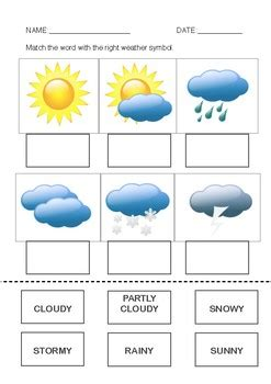 weather worksheet by rosie smith teachers pay teachers