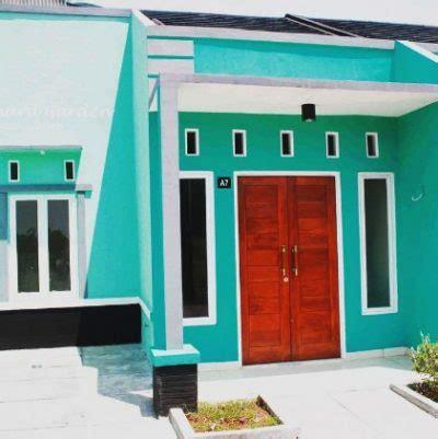 warna cat rumah hijau tosca  cantik  rumahaku