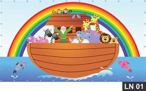 Arca De Noé Painel 3m² Lona Festa Aniversário Decoração