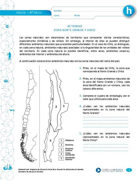 Zona Norte Grande y Chico Curriculum Nacional MINEDUC