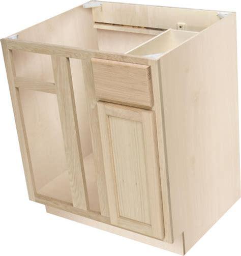 unfinished blind corner base cabinet quality one 36 quot x 34 1 2 quot unfinished premium oak blind