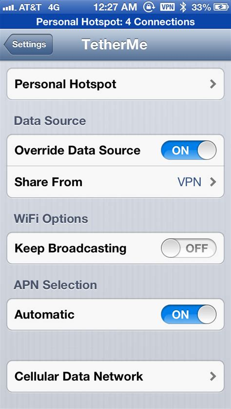 iphone 5s hotspot tetherme tweak updated to support ios 7 and iphone 5s