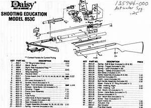 Daisy Air Rifle Parts List Models 850  851