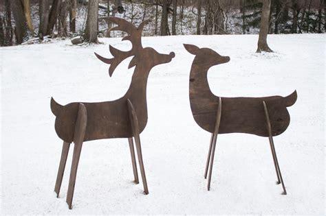 build wooden deer  outdoor decor gac