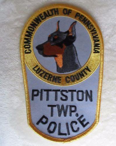 Pittston Twp Police Dept K 9 Patch Pennsylvania 3 1 2 X 5