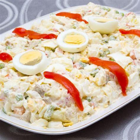 recettes de cuisine de noel recette ensaladilla salade de pommes de terre à l 39 espagnole