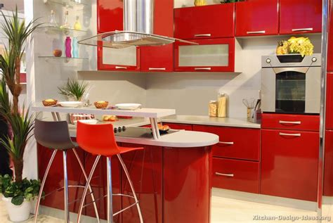 Kuche Rot by Pictures Of Kitchens Modern Kitchen Cabinets