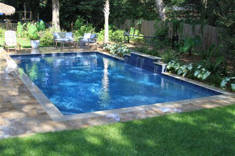 rectangle swimming pool  water features located  mt