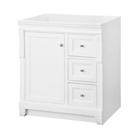 30 Inch Bathroom Vanity Home Depot by Home Decorators Collection Naples White 30 Inch Vanity