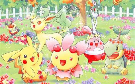 Pokémon Spring Full Hd Wallpaper And Background Image