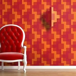3d tapete fur eine tolle wohnung archzinenet With balkon teppich mit tapete rot orange