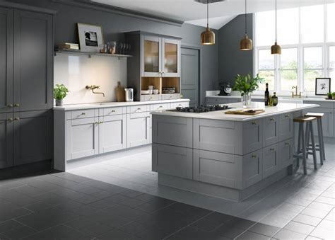 gloss or matt kitchen cabinets shaker cathedral slate wren kitchens 6868