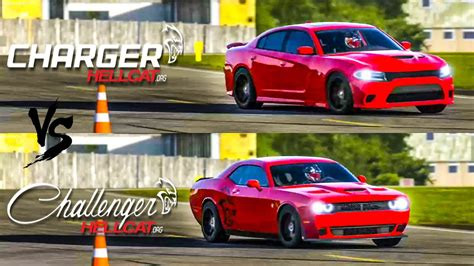 Charger Hellcat Or Challenger Hellcat by 2015 Charger Srt Hellcat Vs 2015 Challenger Srt Hellcat