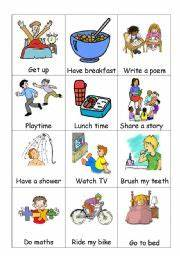 Daily Routine - ESL worksheet by kfretwell