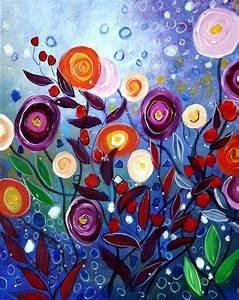 Eden Flowers Painting by Luiza Vizoli
