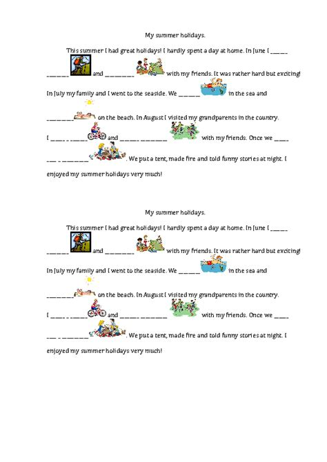 103 FREE Summer Activities, Worksheets and Creative Lesson ...