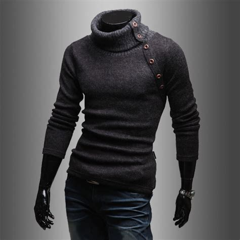 cool sweaters for guys fashion 39 s autumn turtleneck pullover sweater slim fit