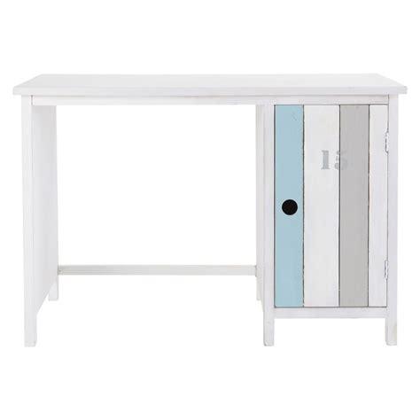 bureau en bois blanc bureau en bois blanc l 110 cm océan maisons du monde