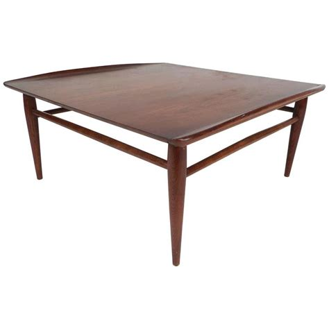 modern square coffee table mid century modern square walnut coffee table by bassett