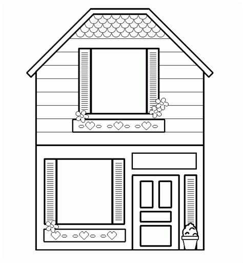 House Template Free Printable House Coloring Pages For