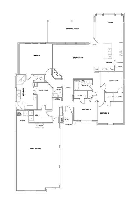 Home Builder Floor Plans by Floor Plans 183 Steed Custom Homes