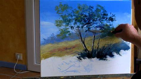 sous les jupes au bureau sous les arbres 2 3 pascal clus peinture au couteau painting knife tutorial