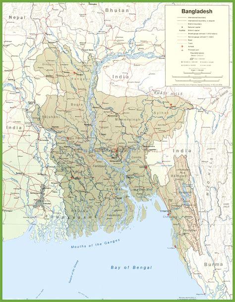 bangladesh map large