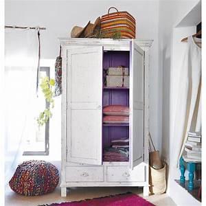 Maison Du Monde Armoire : armoire en manguier blanche l 108 cm salvador maisons du ~ Melissatoandfro.com Idées de Décoration