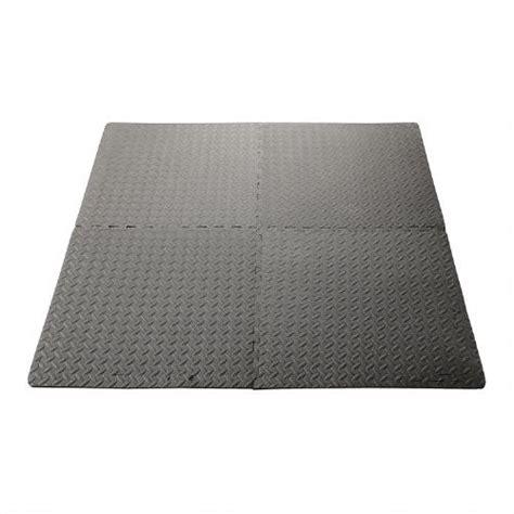 Antifatigue Interlocking Cushioned Floor Mats, 4pack
