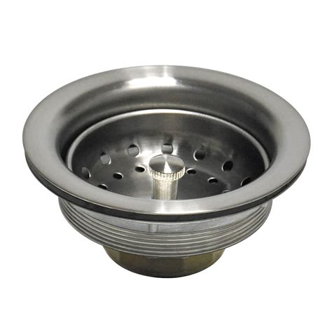 kitchen sink drain strainer 3 1 2 in basket strainer assembly in brushed nickel danco