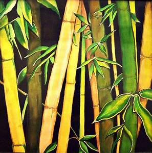 Bamboo Leaves Painting by Ivy Sharma