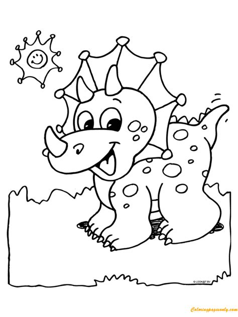 a dinosaur coloring page free coloring pages 495   a cute dinosaur00