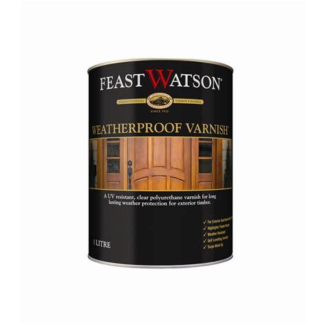 feast watson weatherproof  satin clear timber varnish