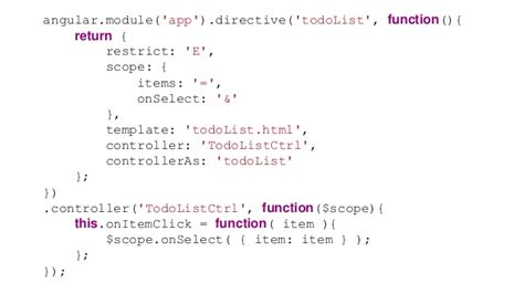 angular directive template building angular apps using directives as components
