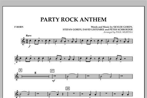 party rock anthem f horn sheet music paul murtha