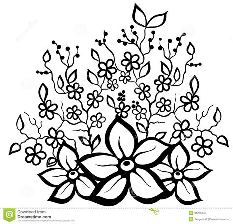 black and white floral pattern design element stock vector 31236642