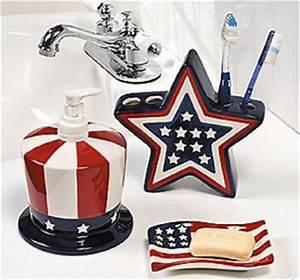 patriotic bathroom accessories ceramic american flag decor With red white and blue bathroom accessories