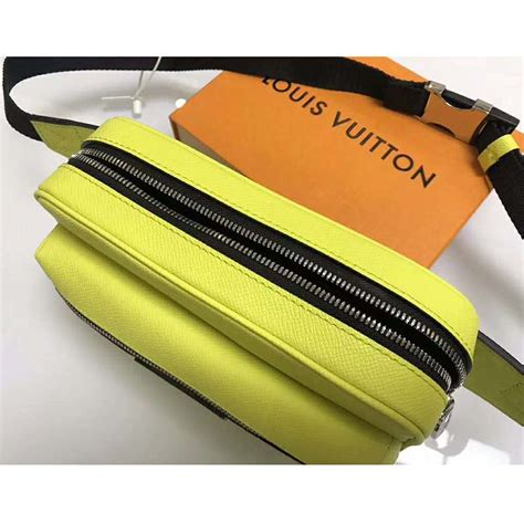 louis vuitton lv men outdoor bumbag  monogram canvas lime lulux