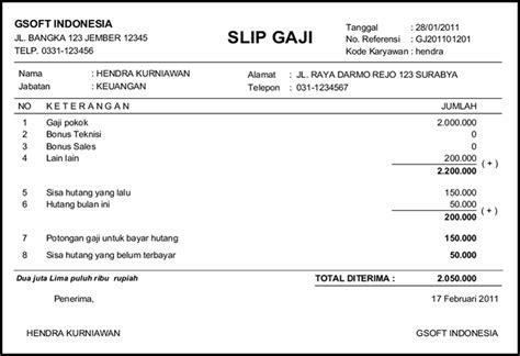 Contoh Slip Gaji Bulanan Karyawan Swasta Places To Visit