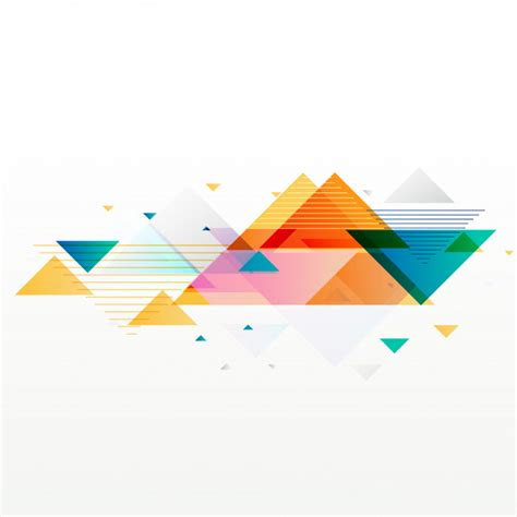 Abstract Geometric Shapes In by Colorful Abstract Geometric Triangle Shapes Background