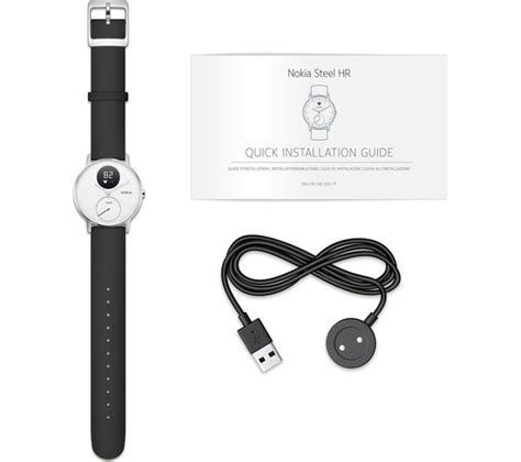 buy nokia steel hr 36 fitness white small free