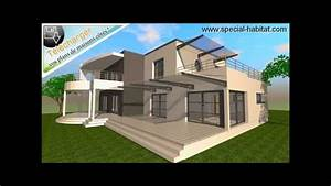 cuisine architecture moderne plan maison moderne plans With wonderful toit de maison dessin 11 plan moderne avec garage