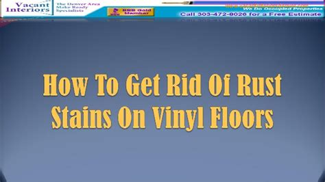 How To Get Rid Of Rust Stains In Tub by How To Get Rid Of Rust Stains On Vinyl Floors