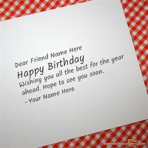 write   cool birthday card   friend happy
