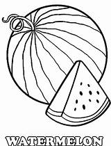 Watermelon Coloring Drawing Slice Printable Cartoon Fruits Colorings Getdrawings Getcolorings sketch template
