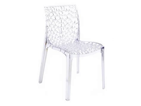 vente chaise lot de 2 ou 6 chaises diademe polycarbonate 3 coloris