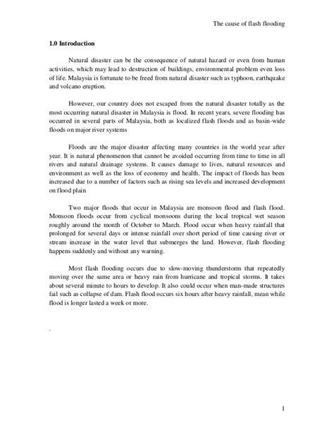 Short essay on flood