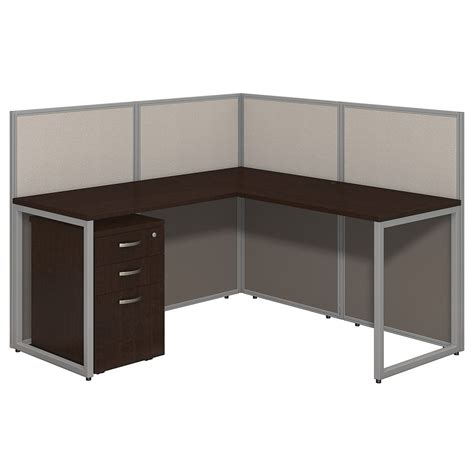 desk l with outlet and organizer 60x60 l shape cubicle workstation with storage