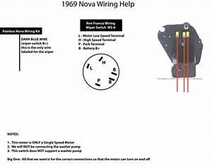 1969 Nova Wiper Motor Wiring Problem