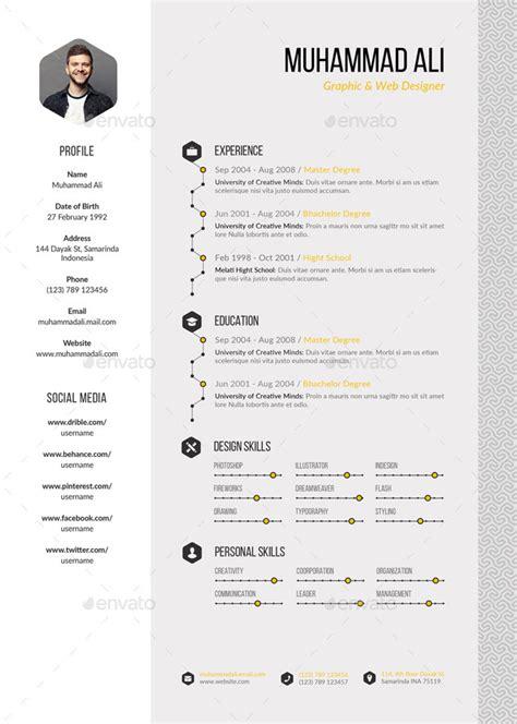 pattern in resume ideas free one page pattern